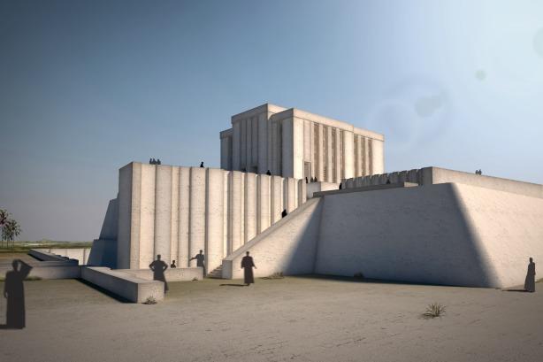 Temple Blanc d'Uruk. Font: La Caixa Obra Social