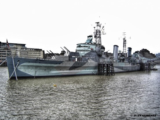 El HMS Belfast en el Támesis hoy en día