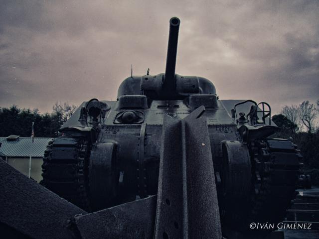 Uno de los Sherman que pueden verse hoy en día en Normandía.